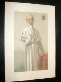 Vanity Fair Print 1878 Pope Leo XIII, Clergy